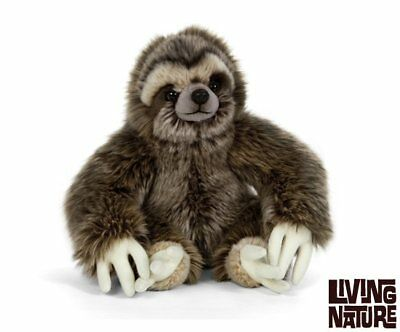 Lying Sloth  Plush Soft Toy by Living Nature.30cm AN401