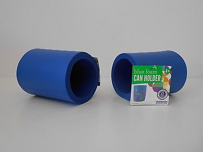 Blue Foam Can Holders, SET OF 2 Plain, Thick Koozie Coozie Cozy, Craft Projects