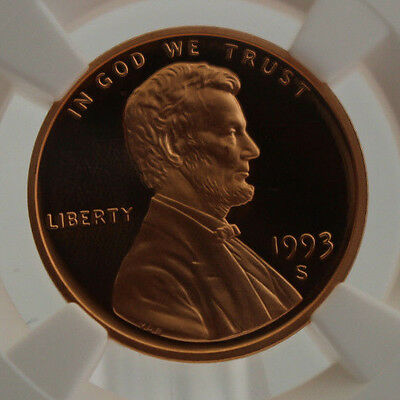 1993 S 1C Lincoln Memorial Penny NGC PF 69 RD Ultra Cameo Cert# 3832285-001