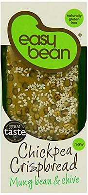 NEW Easy Bean Chickpea Crispbread Mung Bean and Chive 110 g (Pack of 4)