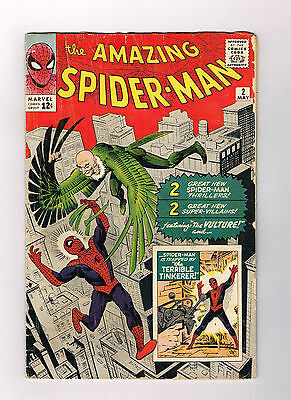 AMAZING SPIDER-MAN (V1) #2 Silver Age key issue: 1st VULTURE appearance!