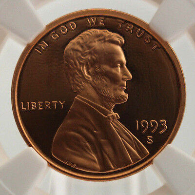 1993 S 1C Lincoln Memorial Penny NGC PF 69 RD Ultra Cameo Cert# 3832285-006