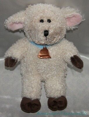 "2004 STARBUCKS Plush 10"" 31st ED WOOLLY WHITE LAMB BEARISTA BEAR Sheep w/Bell"