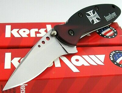 Kershaw USA Scallion Black Red Smoke Hdl Speed Assisted Opening Knife 1620BRHP