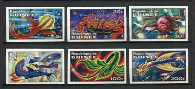 27270) GUINEA 1972 MNH** Nuovi** Immaginary Space Creatures 6v Imperforated