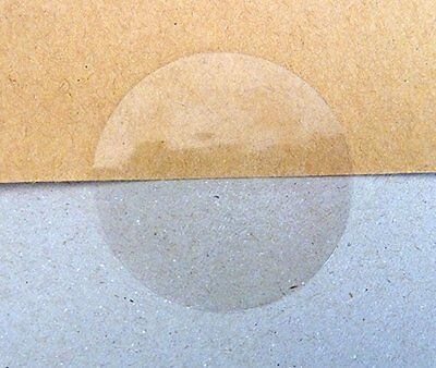 Minilabel 50mm Round Gloss Clear Transparent Seal Stickers (Pack of 50 Circular