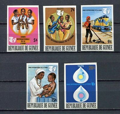 27286) GUINEA 1975 MNH** Nuovi** Women's Year 5v Imperf. ND
