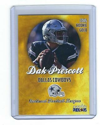 2016 Gold Phenoms Dak Prescott Rookie Rc Card 1St Dallas Cowboys Card Hot!