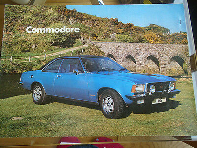 Opel Commodore Saloon & GS/ 2.8 Coupe brochure c1974