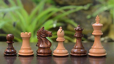 "Chessbazaar 3"" Hand Carved Weighted Staunton Chess Set Shesham Wood 4 Queens"