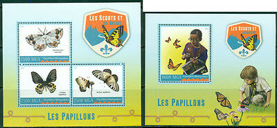 Boy Scouts Butterflies Fauna Insects Scouting Madagascar MNH stamp set