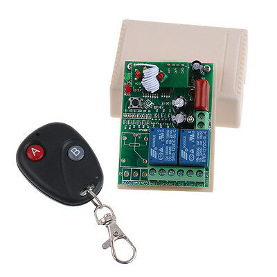 AC 220V 2CH 10A RC Switch RF Wireless Relay Smart House Equipment Fixed Code