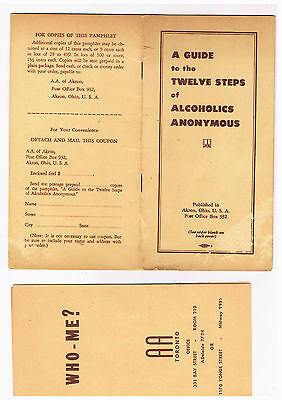 AKRON GROUP,Alcoholics Anonymous Very Early Booklet 1930s+Early Toronto Pamphlet