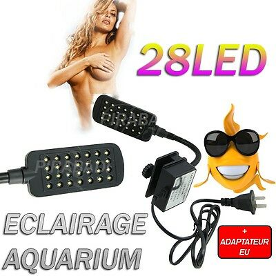 Lampe 28 Led Eclairage Decor Pour Aquarium Terrarium Poisson Animaux Fish