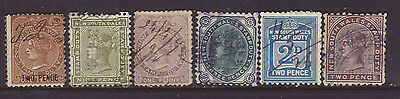 N.S.W Group of 6 early Stamp Duty stamps used.