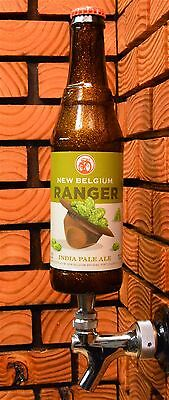 NEW BELGIUM RANGER  BEER TAP HANDLE - COOL GIFT for MANCAVE or BOTTLE DISPLAY