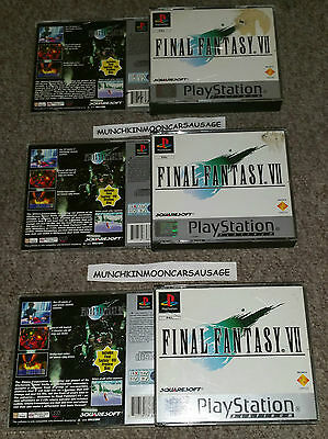 Final Fantasy VII 7 Platinum Case & Inlays ONLY Sony PlayStation PS1 NO GAME