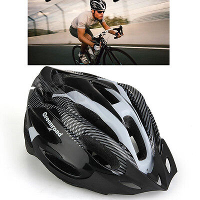 Unisex Road Bike Bicycle Cycling Carbon Safety Helmet Visor Adjustable Outdoor