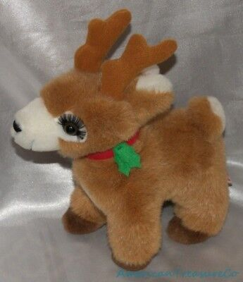 "Vintage Russ Plush 9"" Cinnamon Brown Baby Girl Starlight The Reindeer w/Lashes"