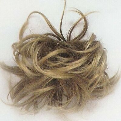 "Wavy Hair Ponytail Holder with Elastic Scrunchie Hairpiece/4.5"" Hair"