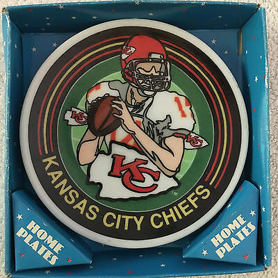 """1993 Sports Impressions Kansas City Chiefs Mini 4"""" Plate Home Plate Collectible"""
