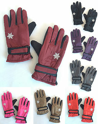Women Winter Outdoor Sports Ski Thermal Insulation Waterproof Gloves Mittens NEW