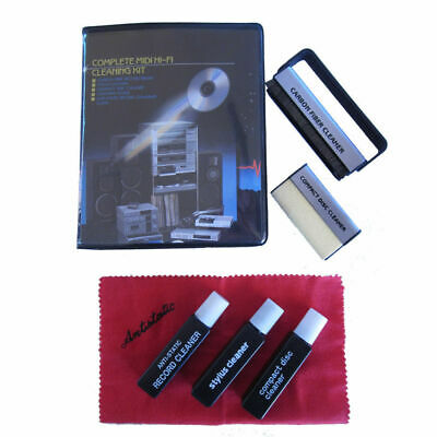 Record Player LP Vinyl Cleaning Kit Anti Static Stylus Brush CD Cleaner Fluid