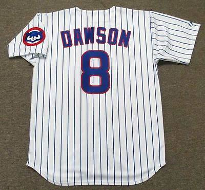 more photos 21e71 de64d ANDRE DAWSON CHICAGO Cubs 1992 Majestic Throwback Home Baseball Jersey