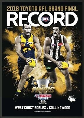 2018 AFL GRAND FINAL FOOTY RECORD - COLLINGWOOD MAGPIES Vs WEST COAST EAGLES