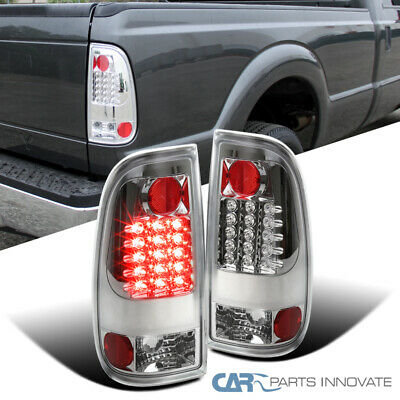 08-16 Ford F250 F350 F450 F550 Super Duty Clear LED Tail Lights Brake Lamps Pair