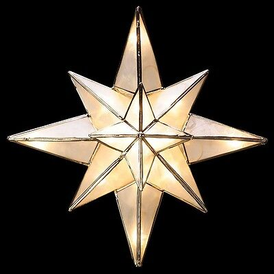 Clear Capiz Bethlehem Star 10 in.Tree Topper Focal Point Of Your Christmas Tree