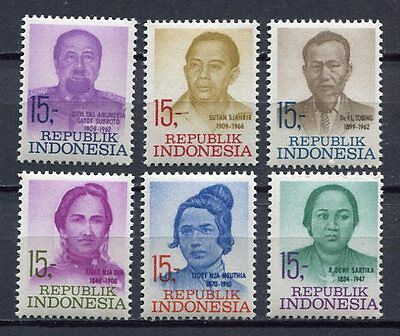 38206) INDONESIA 1969 MNH** Heroes of independence 6v