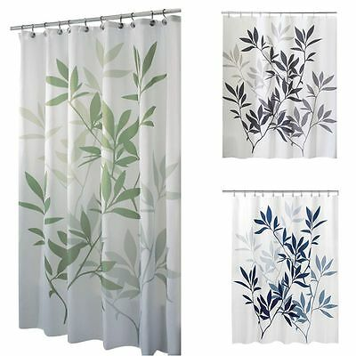 180*180cm Waterproof Thicken Bathroom Shower Curtain With 12 Hooks Long Curtain