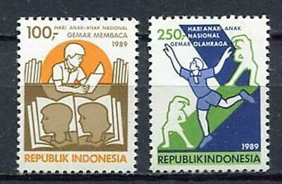 38330) INDONESIA 1989 MNH** Education day 2v