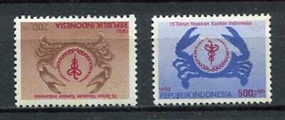 38347) INDONESIA 1992 MNH** Anti cancer 2v