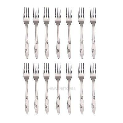 12PCS Mini Stainless Steel Cake Fruit Coffee Fork Kitchen Cocktail Party hv2n