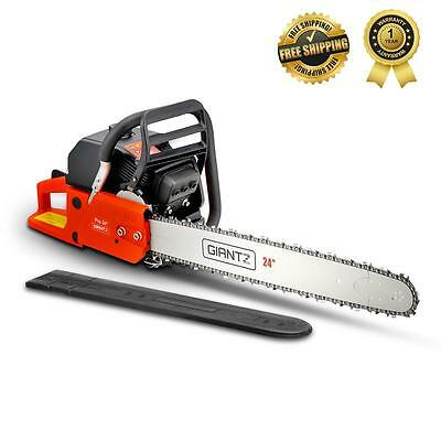 """New 92cc Petrol Commercial CHAINSAW Oregon Chain 24"""" Tree Pruning Saw Giantz"""