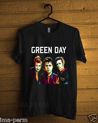 GREEN DAY Personels Rock band Black T-shirt for Man Size S-2XL #