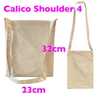 Tote Calico Shoulder Bags Tote Bags Calico Bags S4 H32 x W23cm  Pkts: 5-200