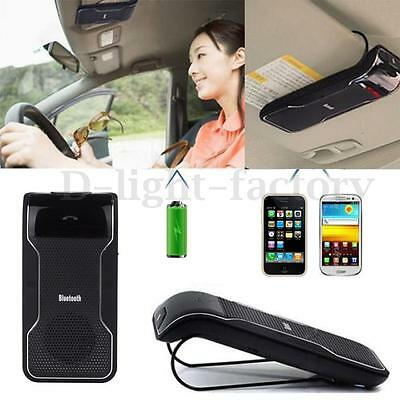 Car Wireless Speaker Phone Bluetooth Receiver HandsFree Kit Clip to Sunvisor New