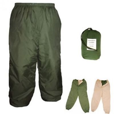*British Army Surplus Thermal Over Trousers Medium - Green/Sand - Genuine - Used