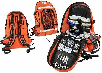 Orange Tactical EMS EMT Paramedic Law Enforcement First Aid Trauma Kit Backpack