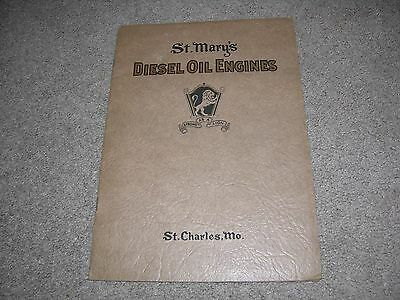 Vintage c.1920 St. Mary's Diesel Oil Engines Catalog