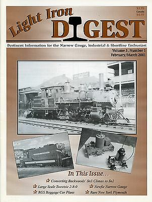 Light Iron Digest Magazine February / March 2001 RGS Baggage Car Plans