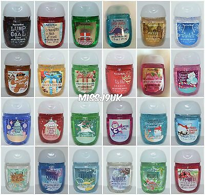 Bath & Body Works POCKETBAC Hand Sanitiser NEW  WINTER SCENTS!!! free P&P