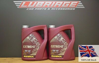 5+5 Litres 5w40 Fully Synthetic Engine Oil ACEA A3/B4 VW 502 505 MANNOL 10L