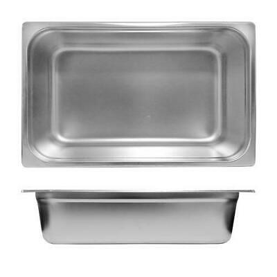 6x Bain Marie Tray / Steam Pan / Gastronorm 1/1 Size 100mm Deep, Stainless Steel