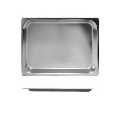 12x Bain Marie Tray / Steam Pan / Gastronorm 1/2 Size 25mm Deep, Stainless Steel