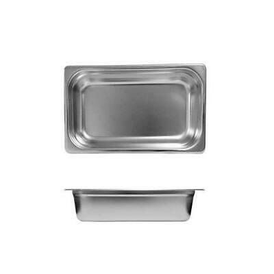 12x Bain Marie Tray / Steam Pan / Gastronorm 1/4 Size 100mm Deep Stainless Steel