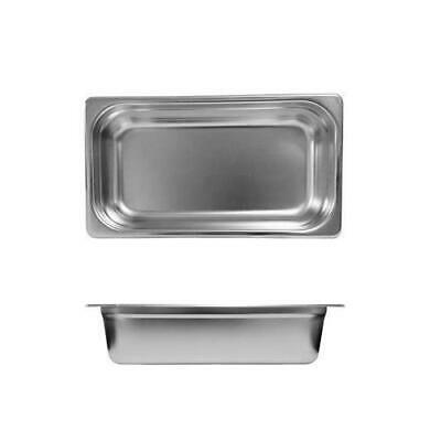 12x Bain Marie Tray / Steam Pan / Gastronorm 1/3 Size 100mm Deep Stainless Steel